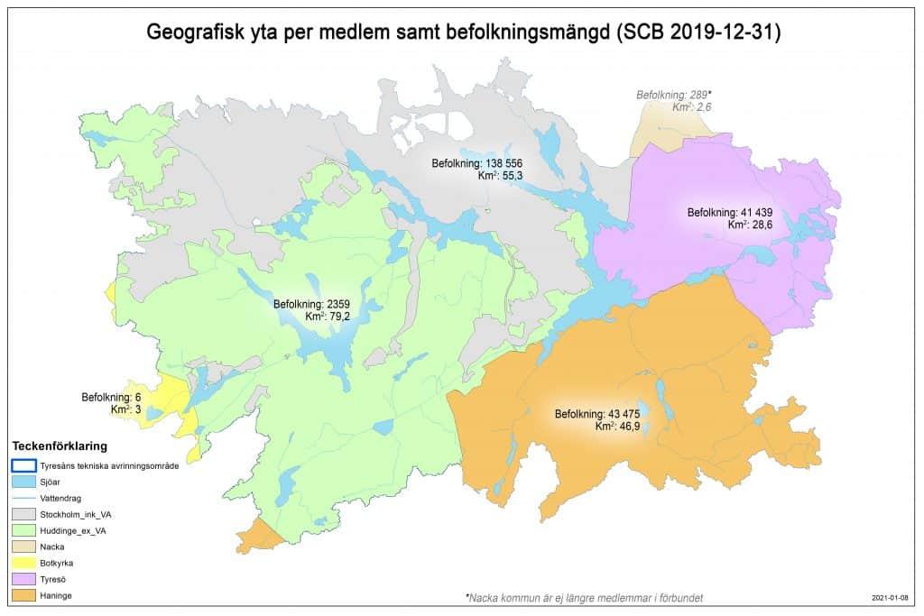 Befolkningsutveckling i Tyresåns avrinningsområde
